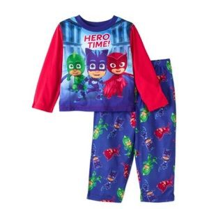 PJ Masks Toddler Boy 2 Piece Pajamas Size 3t Gekko Catboy Owlette Hero Time NWT